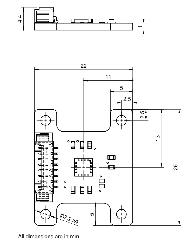 I3G4250D Breakout board PCB drawing