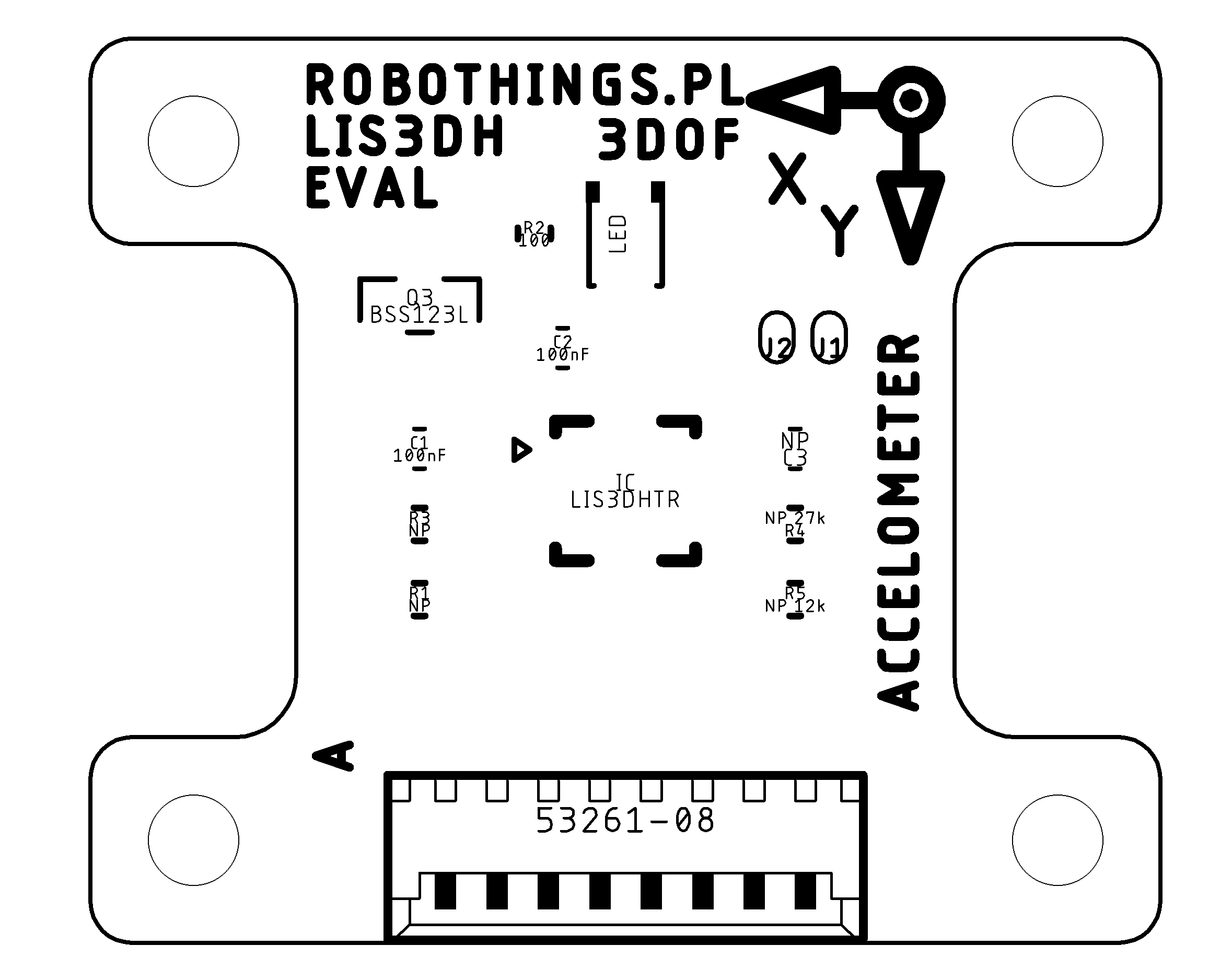 LIS3DH Breakout board assembly drawing