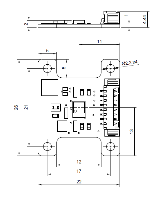 LIS3DH Breakout board PCB drawing