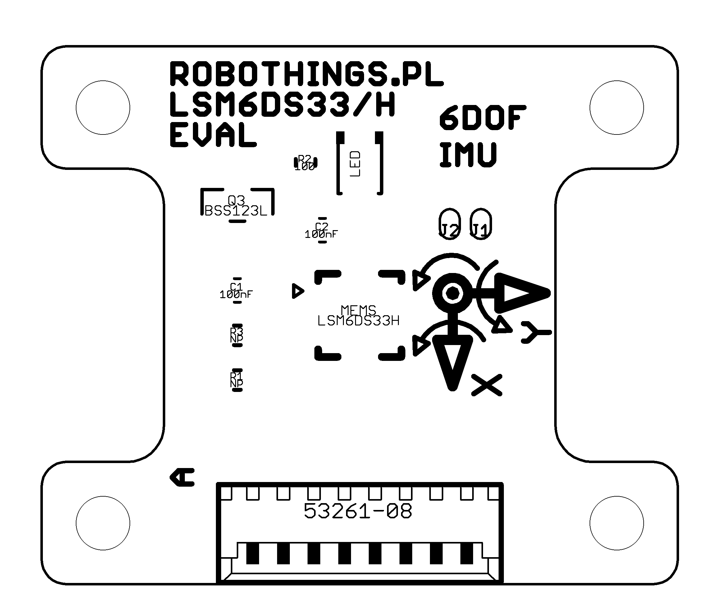 LSM6DS33 Breakout board assembly drawing